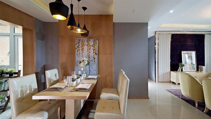 混搭 三居 人居东御佲 餐厅图片来自成都二十四城装饰公司在休闲舒适混搭主义的分享