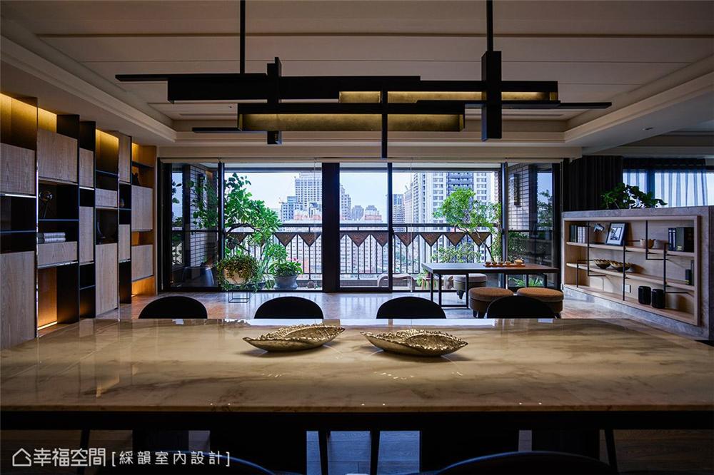 装修风格 装修设计 居家风格 居家设计 公寓 餐厅图片来自幸福空间在360平,多元材质运用!的分享