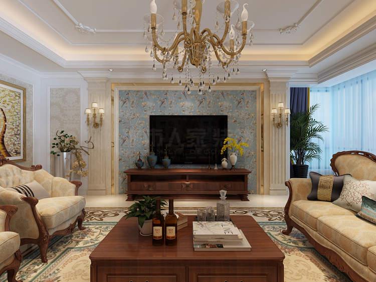 欧式装修 别墅设计 城市人家装 欧式大宅 西安装修 客厅图片来自西安城市人家装饰王凯在西安普华浅水湾206平欧式设计的分享