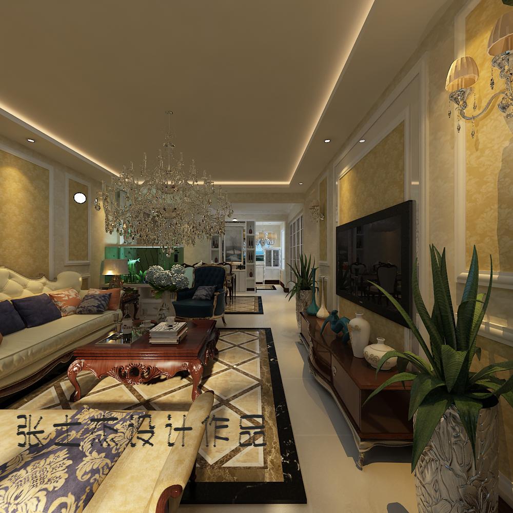 客厅图片来自沈阳百家装饰小姜在美的城150平简欧风格的分享