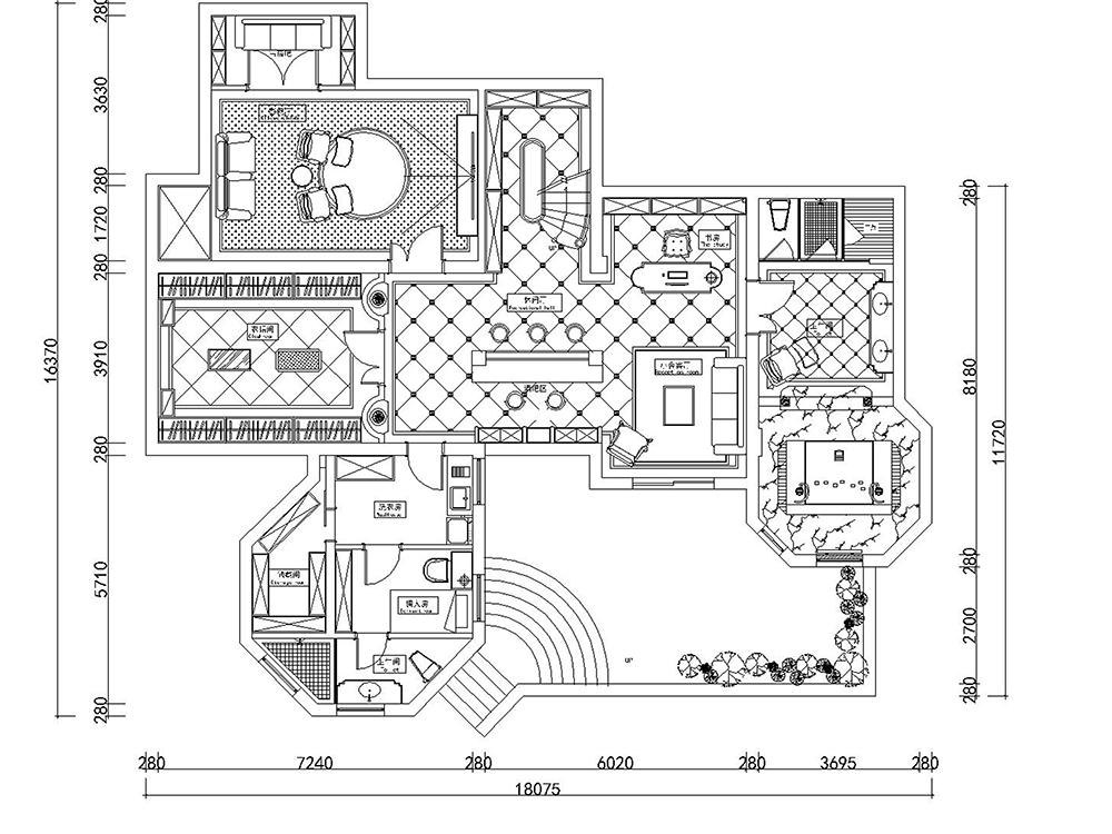 香水湾 别墅装修 欧式古典 腾龙设计 孔继民 户型图图片来自室内设计师孔继民在香水湾独栋别墅项目装修设计的分享