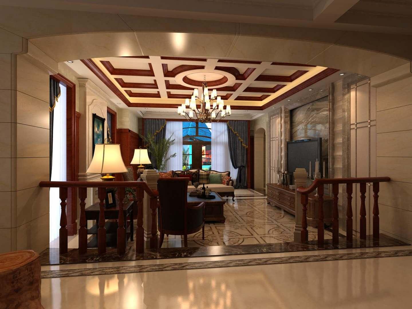 客厅图片来自沈阳百家装饰小姜在碧桂园凤凰城410平美式风格的分享