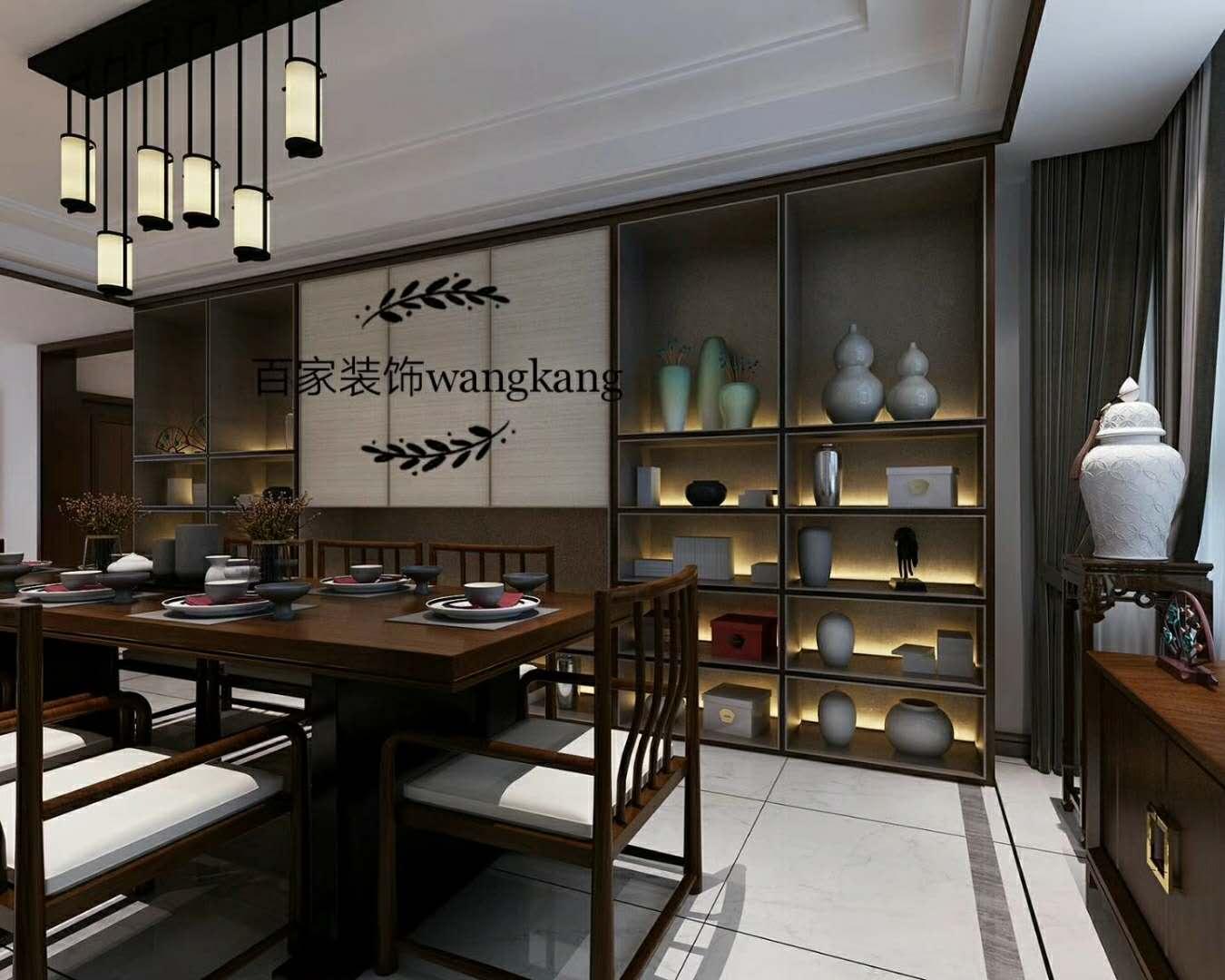 客厅图片来自沈阳百家装饰小姜在保利达江湾城138平新中式的分享
