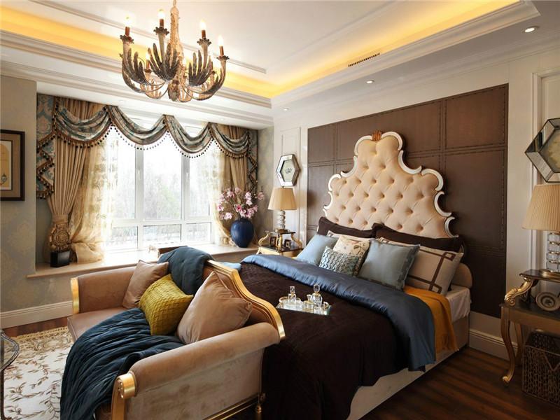 卧室图片来自北京高度国际在法式浪漫--350平米别墅装修的分享