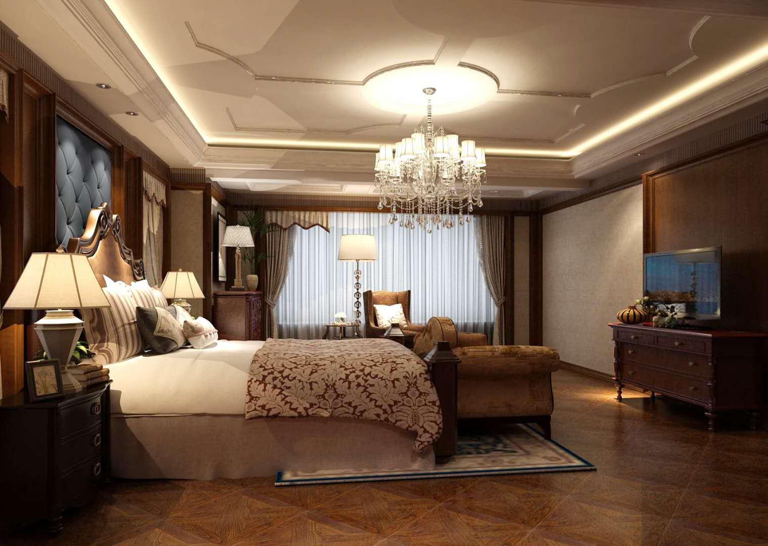 卧室图片来自沈阳百家装饰小姜在碧桂园凤凰城410平美式风格的分享