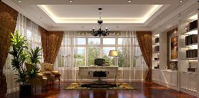 新古典 别墅 复式 跃层 大户型 小资 欧式 书房图片来自高度国际姚吉智在鱼梁洲900平米新古典独栋别墅的分享