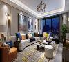 鲁班装饰-绿地城-复式-现代风格-客厅赏析
