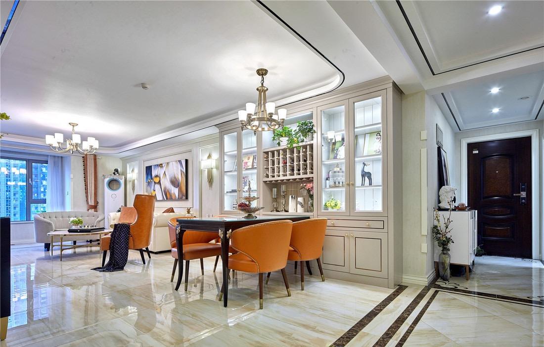 美式 三居 餐厅图片来自言白设计在橙红之光的分享