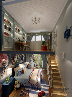 混搭 别墅 跃层 复式 大户型 80后 小资 儿童房图片来自高度国际姚吉智在八达岭孔雀城300平米混搭风格的分享