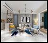 客厅采用极简风格,客厅装修简约时尚,效果很好。