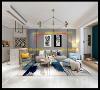 """客厅采用极简风格,客厅装修简约时尚,效果很好。图中标记为客厅影院的英嘉尼隐形音箱布点图,安装后,音箱完全嵌入墙体,达到""""只闻其声不见其形""""的目的。"""