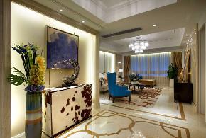 欧式 三居 大户型 复式 跃层 别墅 白领 小资 玄关图片来自高度国际姚吉智在149平米欧式好精致的颜色搭配的分享