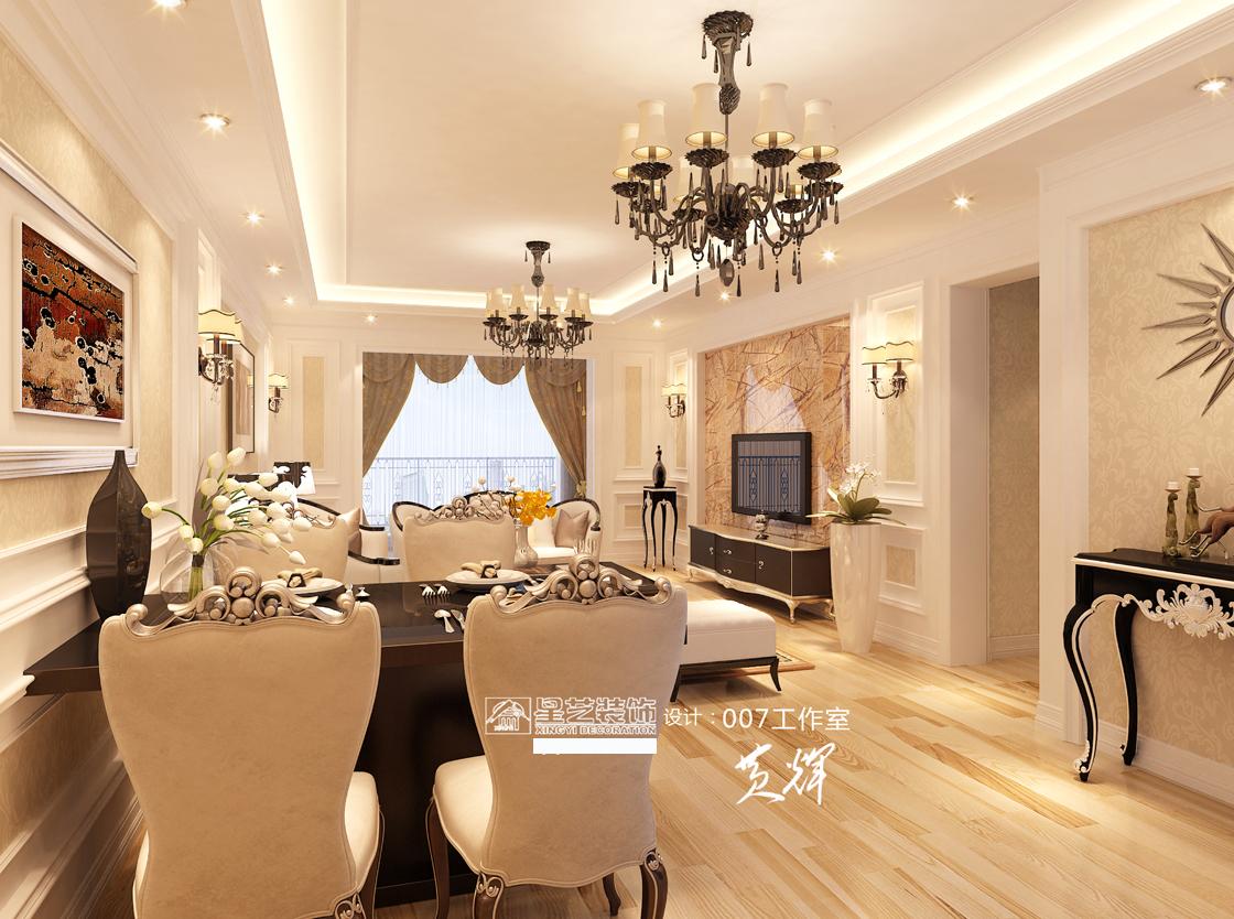 简约 欧式 混搭 三居 客厅 卧室 厨房 餐厅 收纳图片来自星艺装饰贵阳装修公司在小户型装修设计效果图的分享
