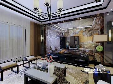星河湾245平新中式风格半包11万