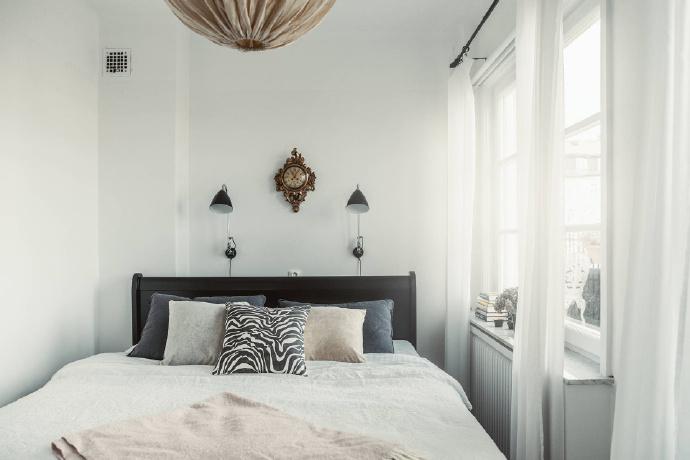 卧室图片来自言白设计在复古北欧的分享