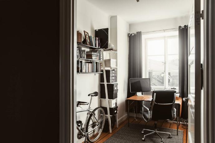书房图片来自言白设计在复古北欧的分享