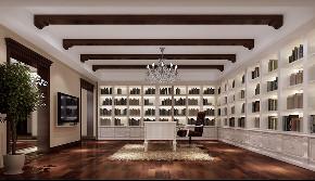 欧式 简约 别墅 书房图片来自北京高度国际-陈玲在润泽墅郡欧式风格案例的分享