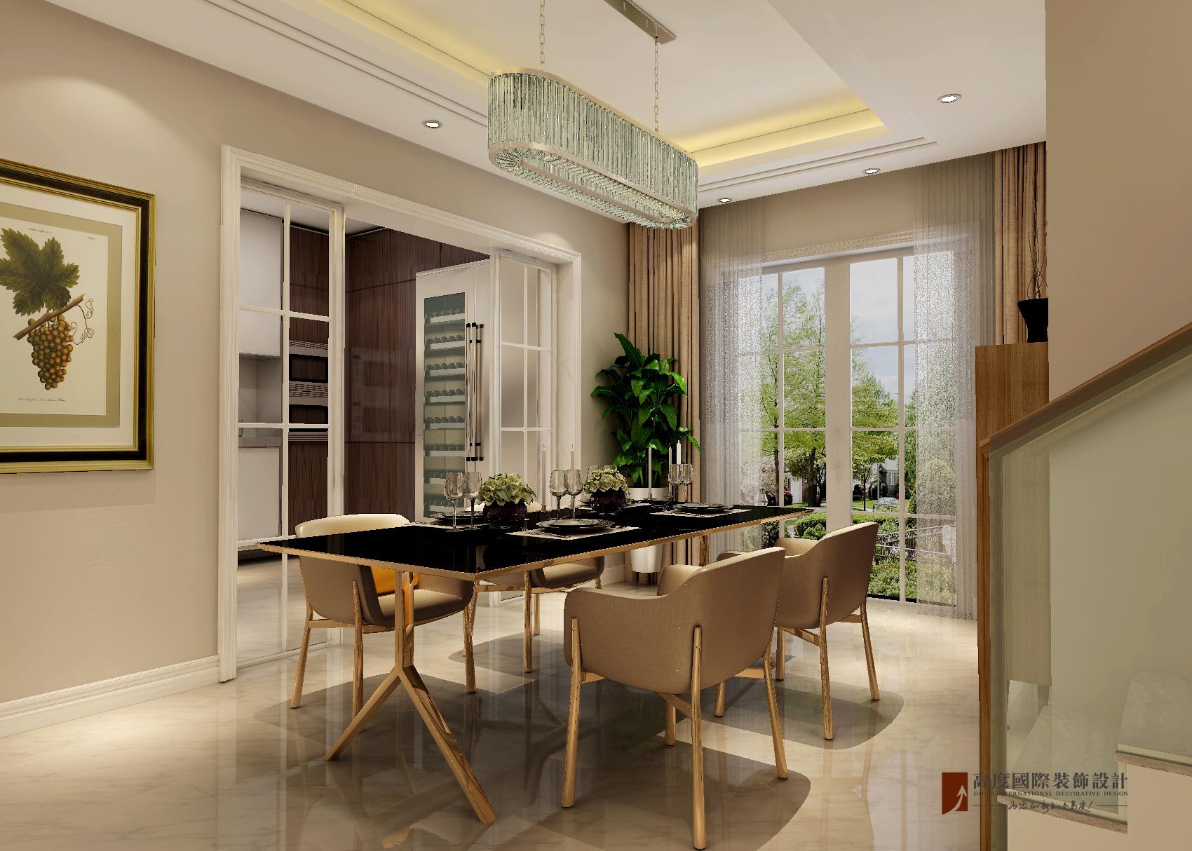 简约 别墅 独栋 餐厅图片来自北京高度国际-陈玲在泉发花园——简约风格的分享