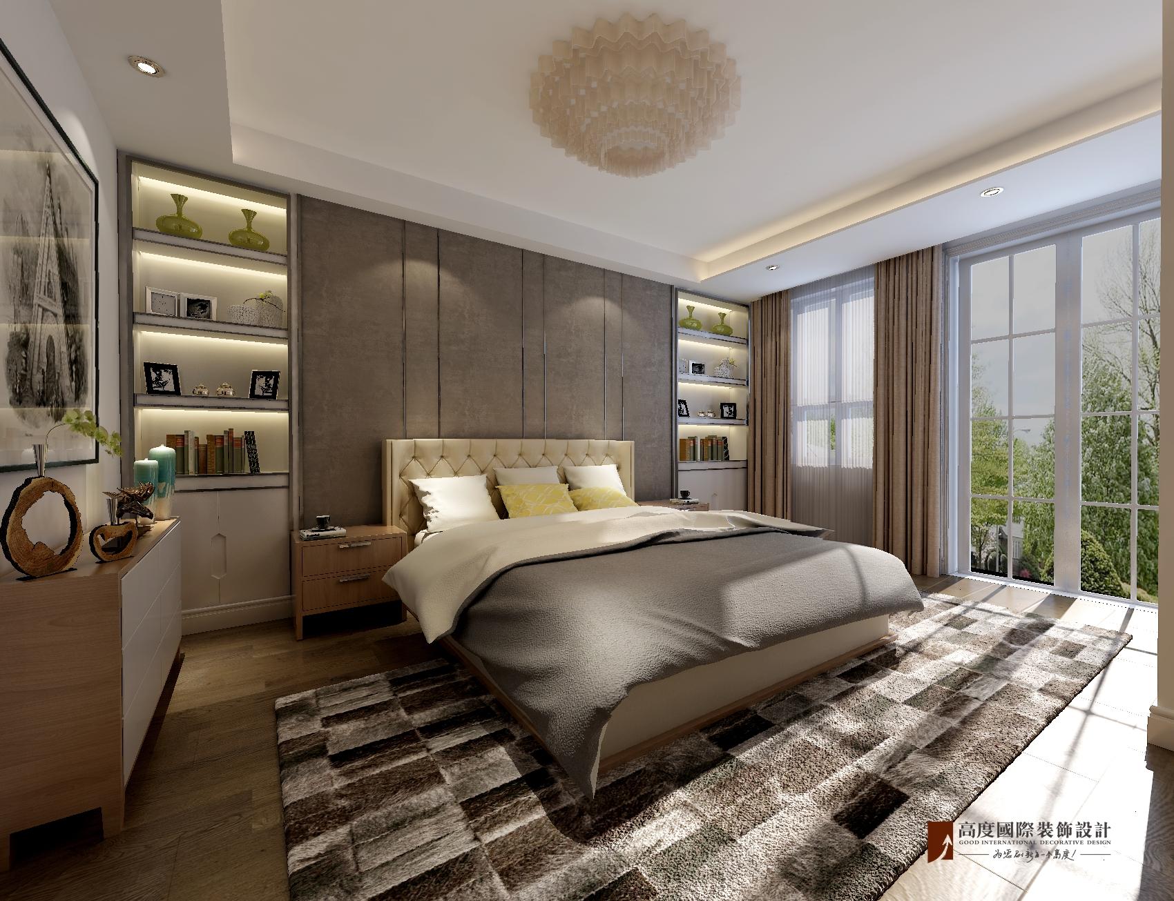 简约 别墅 独栋 卧室图片来自北京高度国际-陈玲在泉发花园——简约风格的分享