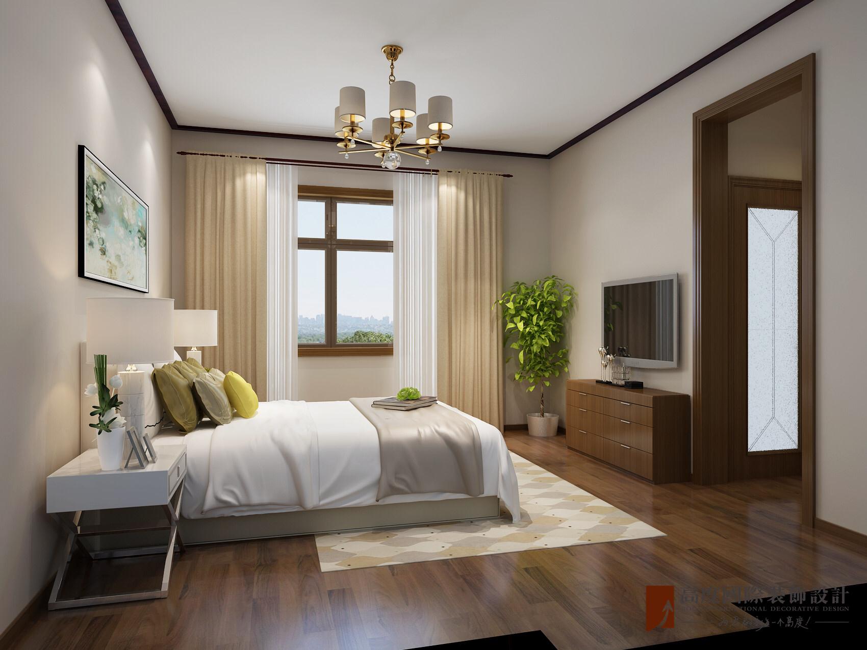 新中式 联排 卧室图片来自北京高度国际-陈玲在天鹅堡——新中式的分享