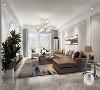 帝王国际163平米三居室现代简约风格装修效果图