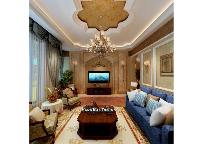 别墅 漫步地中海 地中海风格 客厅图片来自百家设计小刘在漫步地中海420平地中海风格的分享