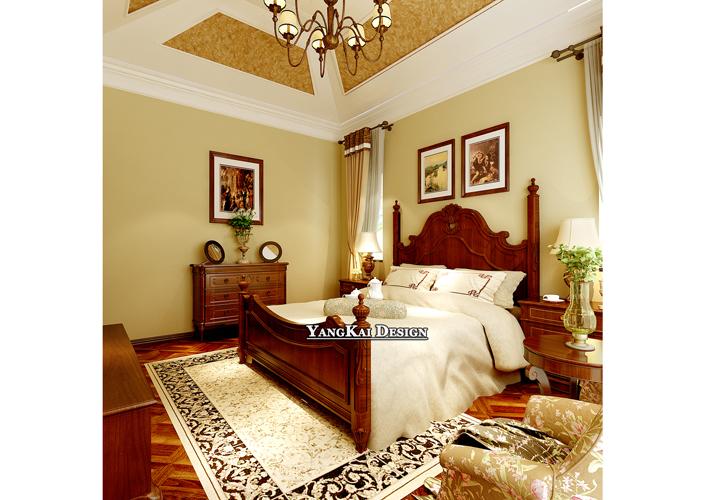 别墅 漫步地中海 地中海风格 卧室图片来自百家设计小刘在漫步地中海420平地中海风格的分享