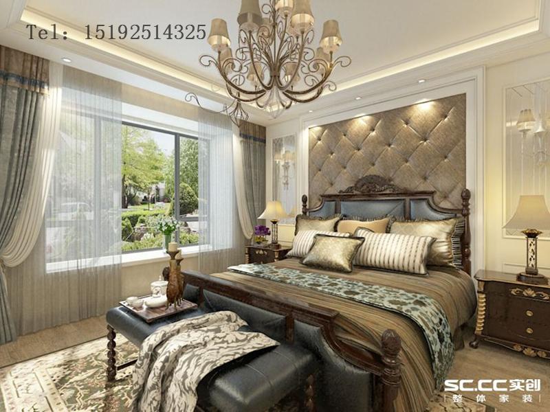 海信 绍兴路66号 三居 简约 美式 卧室图片来自快乐彩在海信·绍兴路66号100平小套三的分享