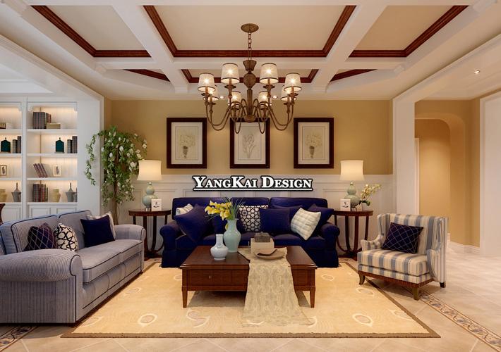 远洋和平府 简美风格 大户型 客厅图片来自百家设计小刘在爵士观邸150平中式风格半包6万的分享