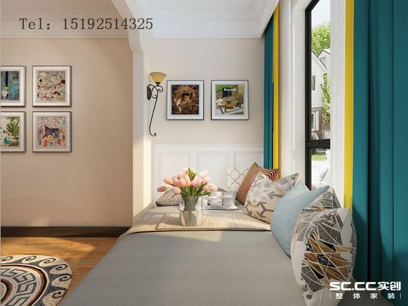 海信 绍兴路66号 三居 简约 美式 白领 卧室图片来自快乐彩在海信·绍兴路66号100平小套三的分享