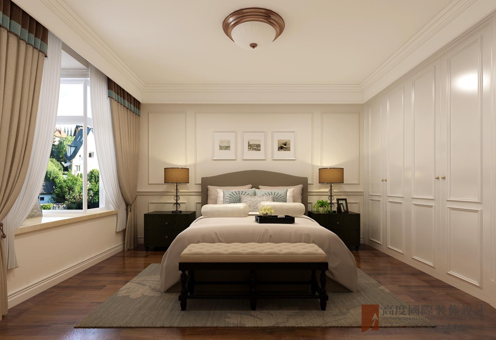 联排 简欧 卧室图片来自北京高度国际-陈玲在玫瑰御园——简欧风格的分享