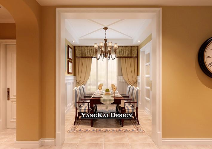 远洋和平府 简美风格 大户型 餐厅图片来自百家设计小刘在爵士观邸150平中式风格半包6万的分享