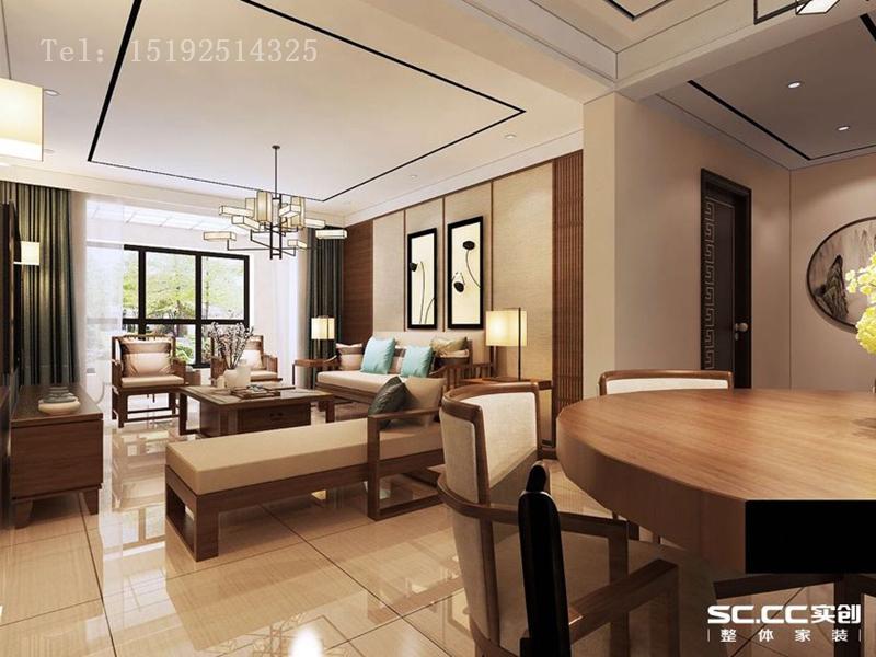 实创 海山慧谷 三居 新中式 白领 客厅图片来自快乐彩在海山慧谷113平三居室新中式的分享