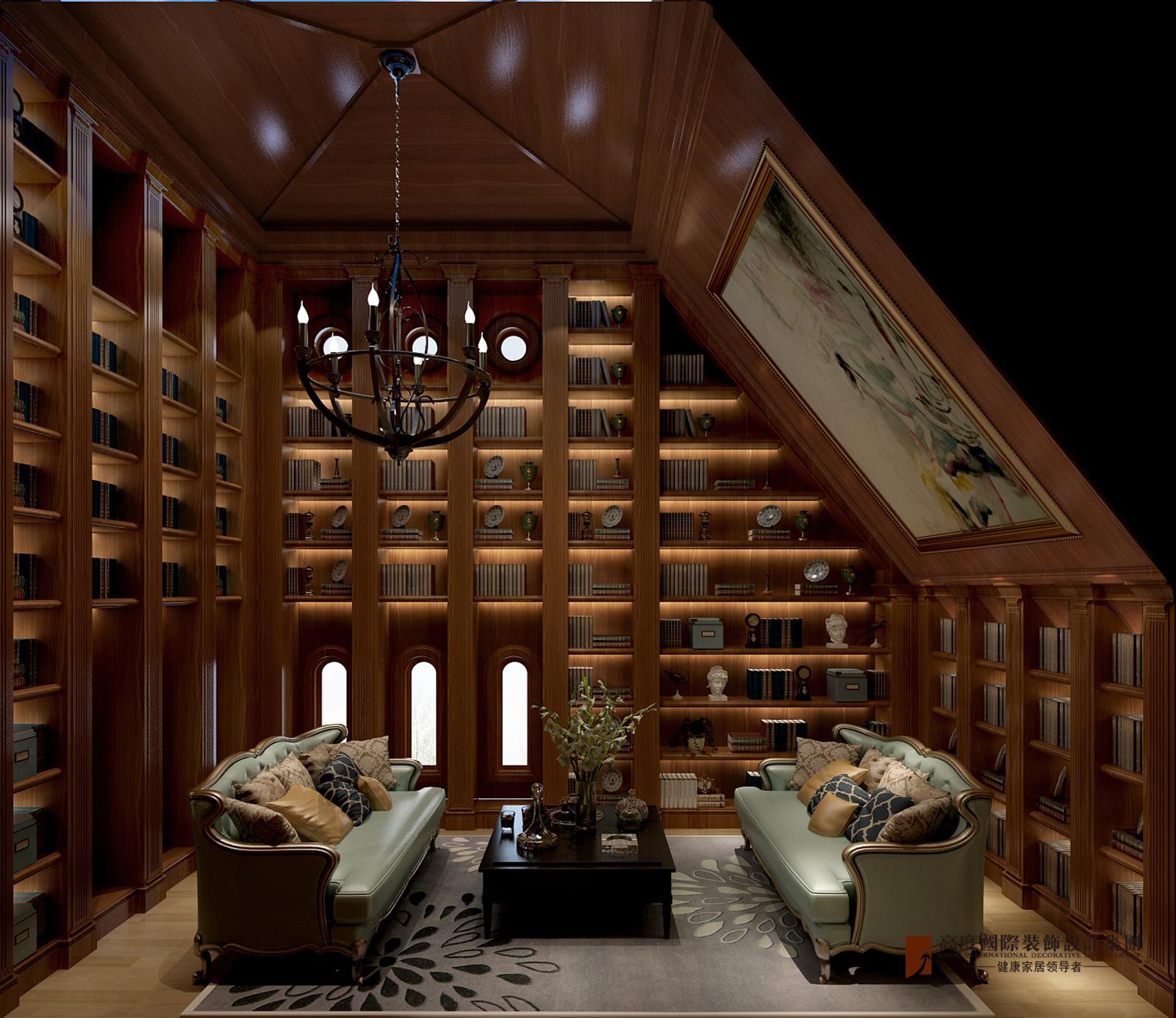 书房图片来自北京高度国际在V7九间堂220平米简美风格的分享