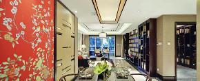 中式 三居 四居 大户型 复式 80后 白领 小资 餐厅图片来自高度国际姚吉智在147平米现代中式三居最美的家的分享