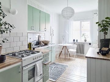 小户型装修——薄荷绿的清新住宅