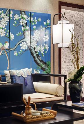 中式 三居 四居 大户型 复式 80后 白领 小资 客厅图片来自高度国际姚吉智在147平米现代中式三居最美的家的分享