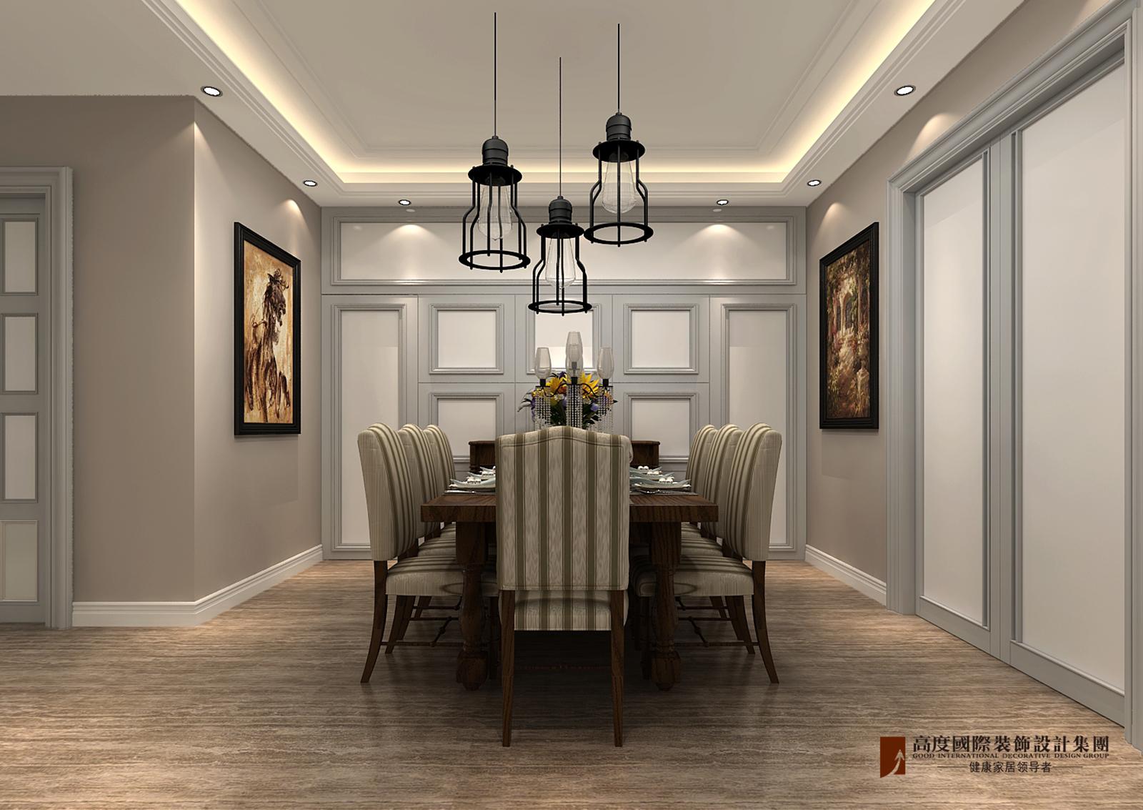 餐厅图片来自北京高度国际在V7九间堂220平米简美风格的分享