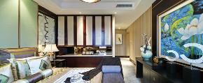 中式 三居 四居 大户型 复式 80后 白领 小资 卧室图片来自高度国际姚吉智在147平米现代中式三居最美的家的分享