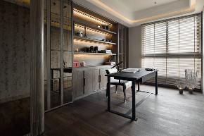 简约 现代 小资 80后 书房图片来自别墅设计师杨洋在现代简约大气低奢设计的分享