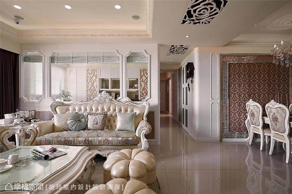 新古典 装修设计 室内设计 设计作品 家居风格 客厅图片来自幸福空间在298平,奢华高雅 新古典风水宅的分享