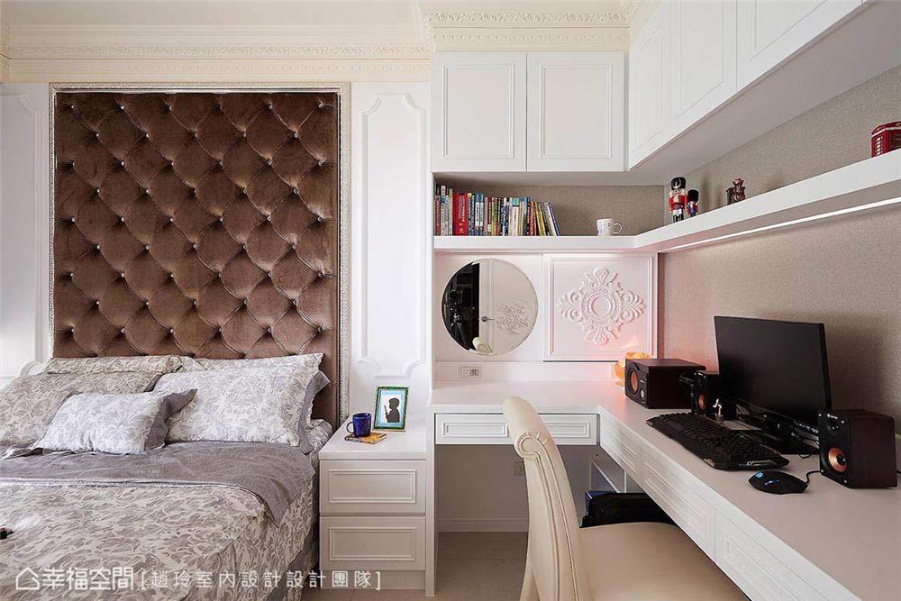 新古典 装修设计 室内设计 设计作品 家居风格 卧室图片来自幸福空间在298平,奢华高雅 新古典风水宅的分享