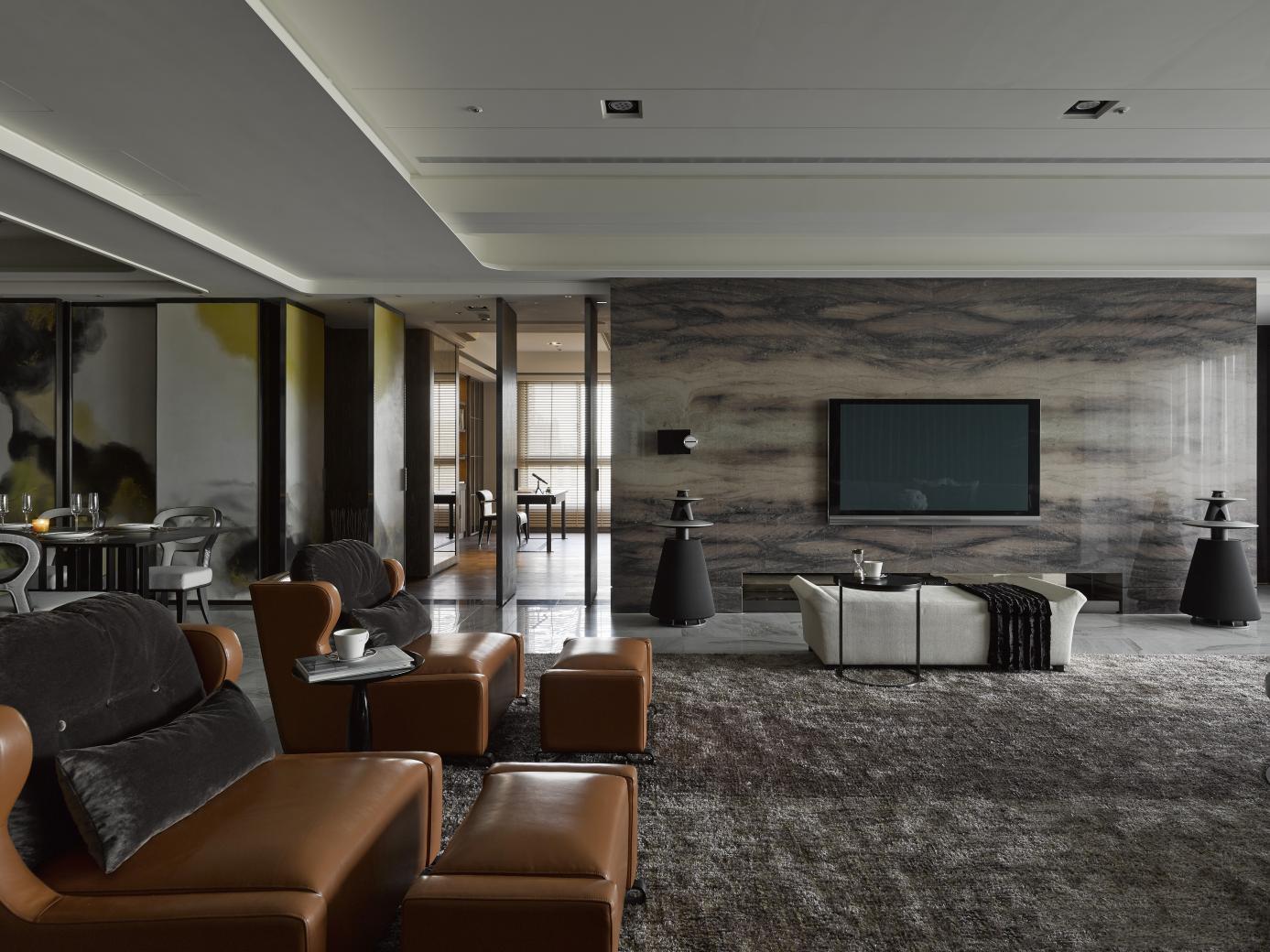 简约 现代 小资 80后 客厅图片来自别墅设计师杨洋在现代简约大气低奢设计的分享
