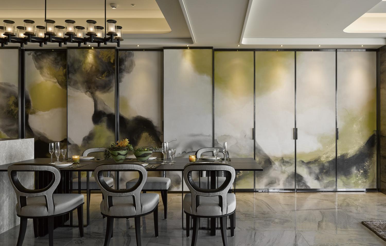 简约 现代 小资 80后 餐厅图片来自别墅设计师杨洋在现代简约大气低奢设计的分享