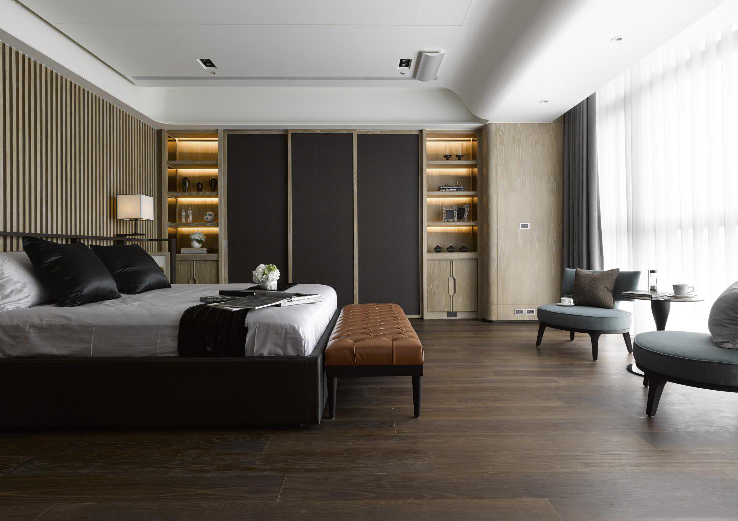 简约 现代 小资 80后 卧室图片来自别墅设计师杨洋在现代简约大气低奢设计的分享