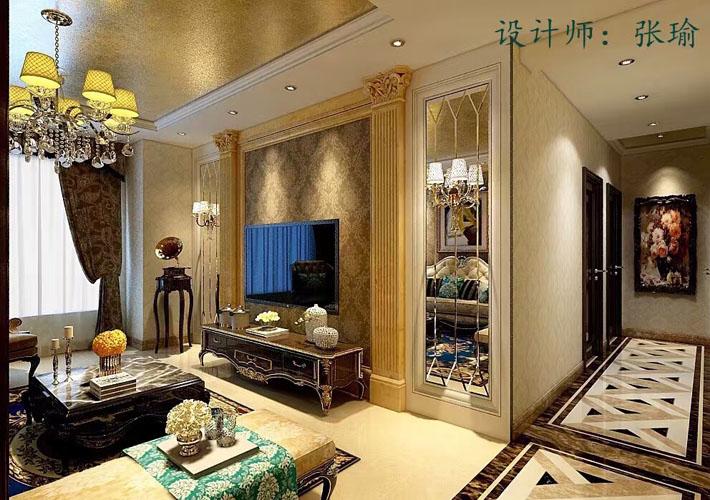 三居 华润幸福里 欧式风格 客厅图片来自百家设计小刘在华润幸福里120平欧式风格的分享