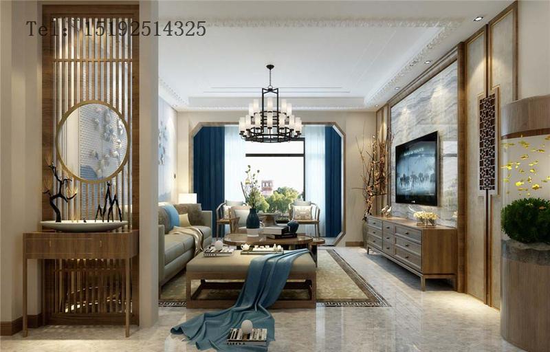 三居 新中式 金隅和府 客厅图片来自快乐彩在金隅和府120平新中式三居室的分享