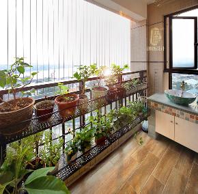 旧房改造 三居 美式 胭脂设计 阳台图片来自设计师胭脂在胭脂原创设计:温暖如初的分享