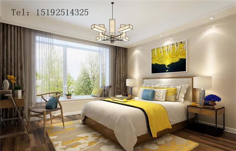 三居 新中式 金隅和府 卧室图片来自快乐彩在金隅和府120平新中式三居室的分享