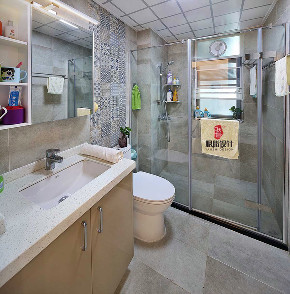 现代 胭脂设计 四居 收纳 卫生间图片来自设计师胭脂在那一抺深蓝 & 金月湾实景的分享